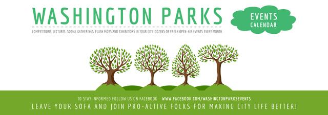 Park Event Announcement Green Trees Tumblr – шаблон для дизайну