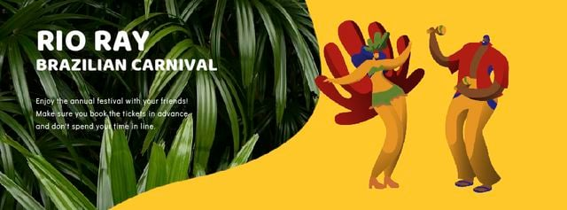 Plantilla de diseño de People dancing at Rio carnival Facebook Video cover