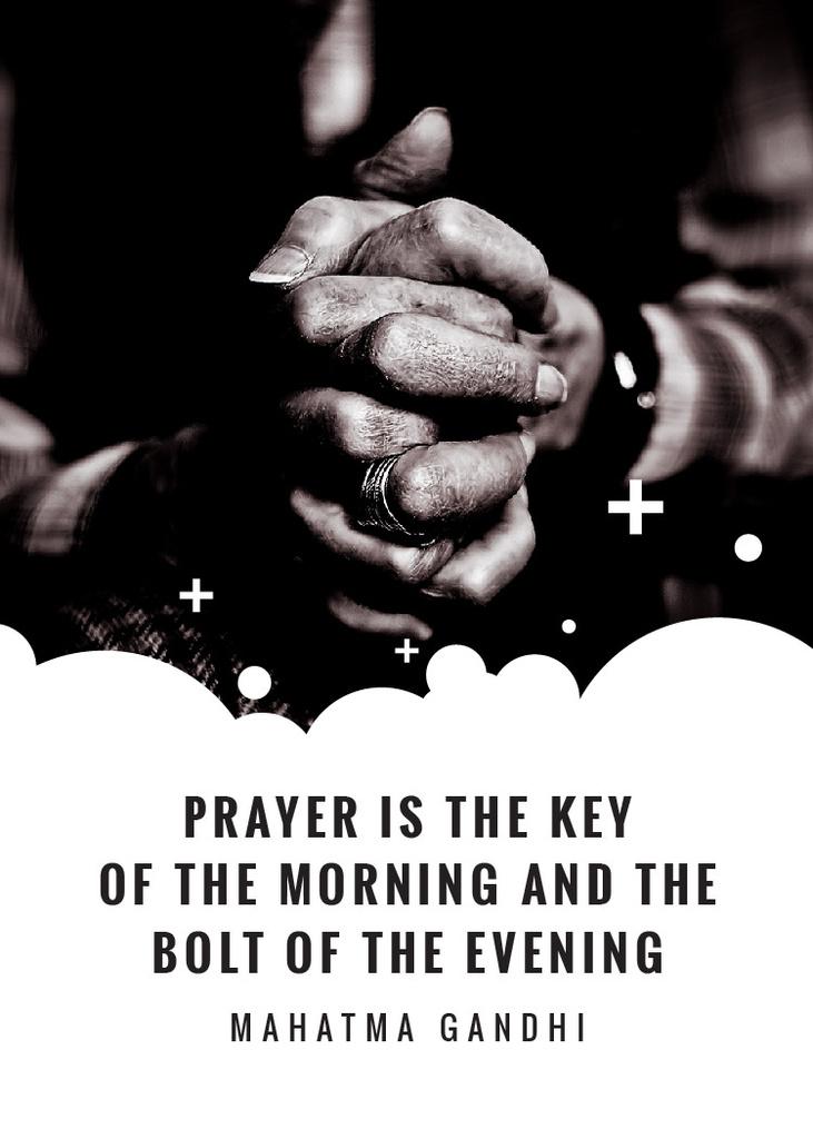 Hands Clasped in Religious Prayer — Crea un design