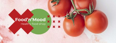 Ripe cherry tomatoes Facebook cover Modelo de Design