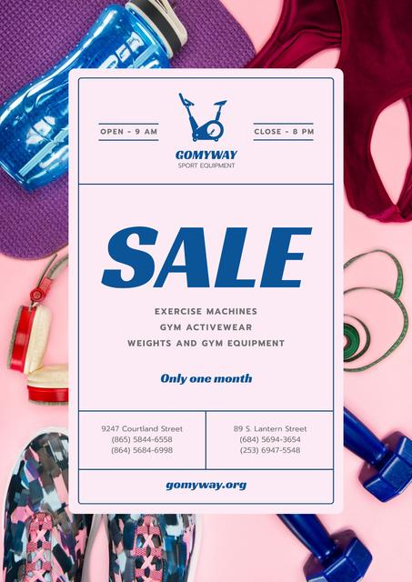 Sports Wear and Equipment Sale Posterデザインテンプレート
