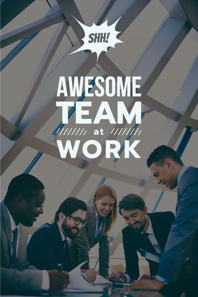 group of business people working together, teamwork concept — Create a Design