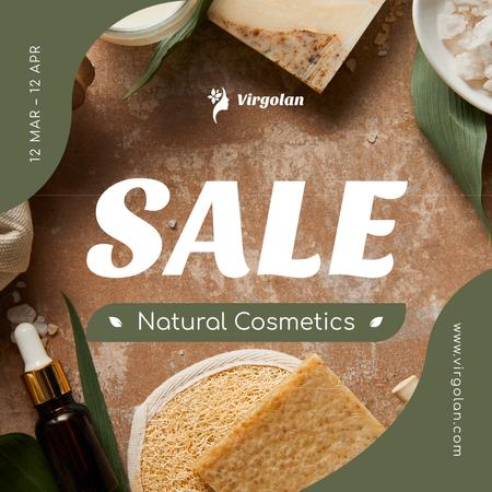 Organic Cosmetics Sale Offer Instagram Design Template