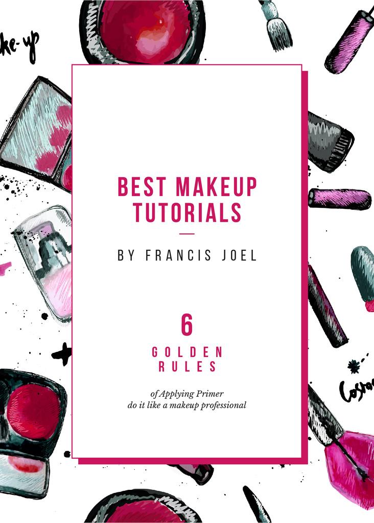 Plantilla de diseño de Cosmetics composition for Makeup tutorials Invitation