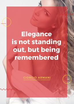 Elegance Quote Attractive Woman with Long Hair | Flyer Template