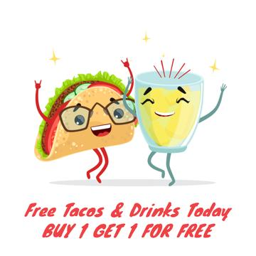 Dancing taco and lemonade