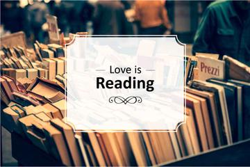 Bookstore Offer with Quote about Reading