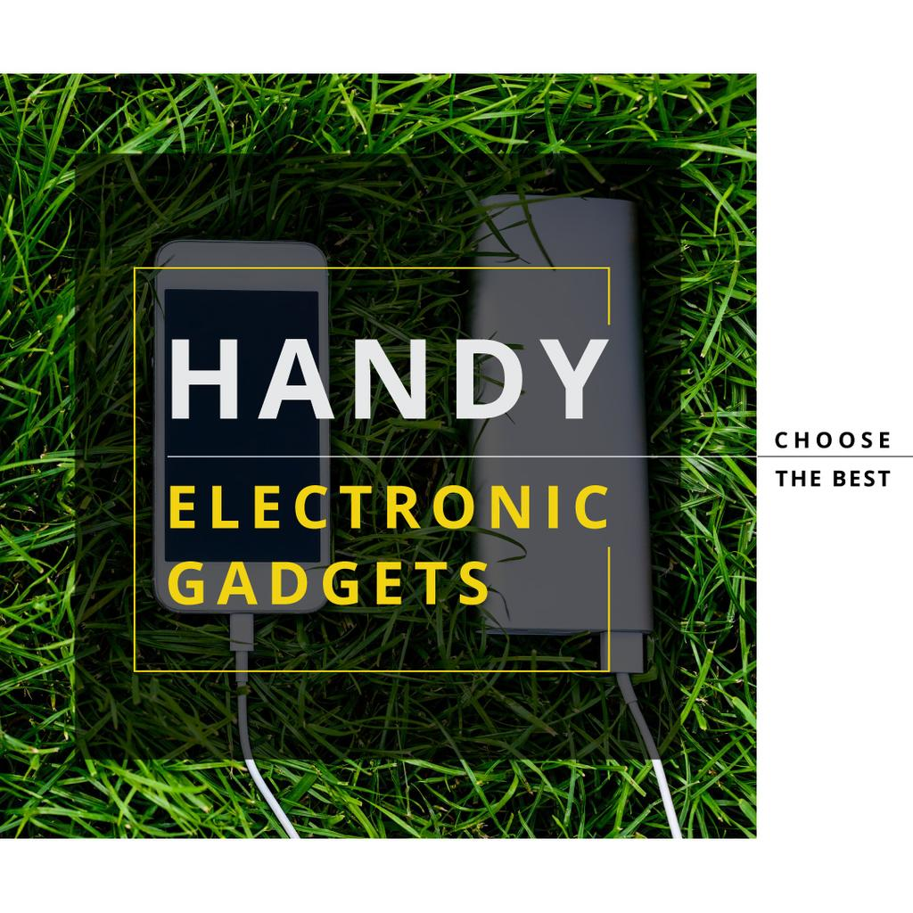 Electronic gadgets on the grass —デザインを作成する