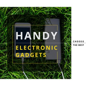 Electronic gadgets on the grass