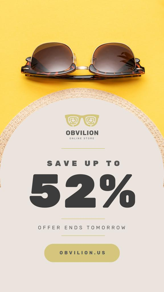 Sunglasses Sale Ad Stylish Vintage Glasses — Создать дизайн