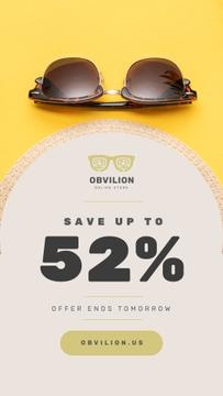 Sunglasses Sale Ad Stylish Vintage Glasses