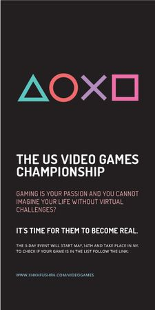 Ontwerpsjabloon van Graphic van Video Games Championship announcement