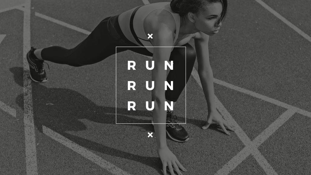 Running poster in sepia tone — ein Design erstellen