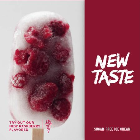 Template di design Popsicle with Raspberries Offer Animated Post