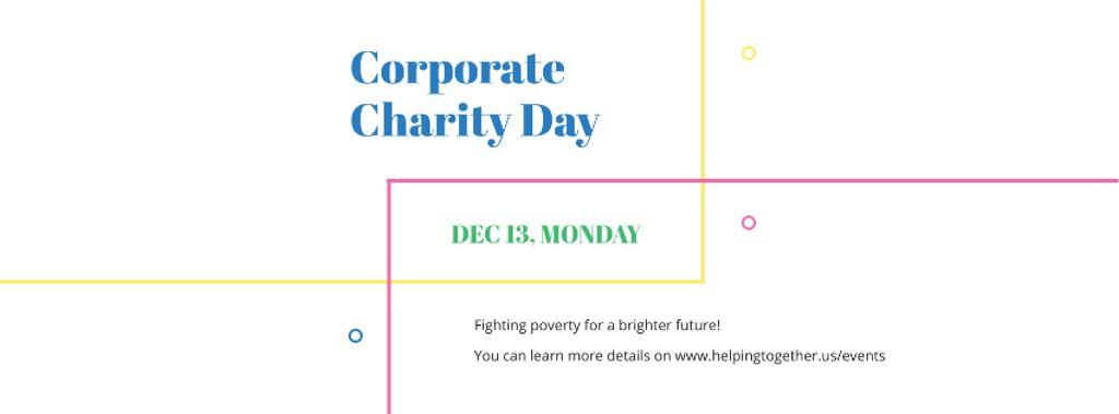 Corporate Charity Day Facebook cover Modelo de Design