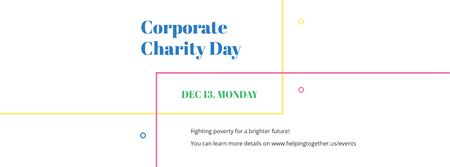 Plantilla de diseño de Corporate Charity Day Facebook cover
