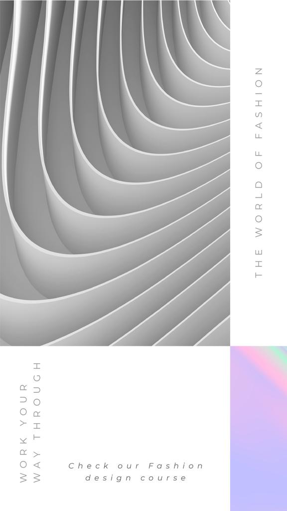 Design Fashion Course Offer with Grey Texture — Create a Design
