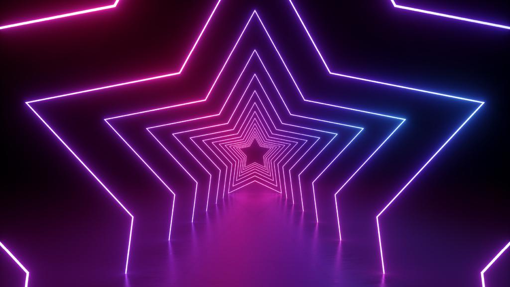 Glowing Neon Stars tunnel — Створити дизайн