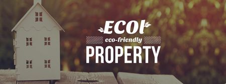 Eco friendly Building materials ad with House Model Facebook cover Modelo de Design