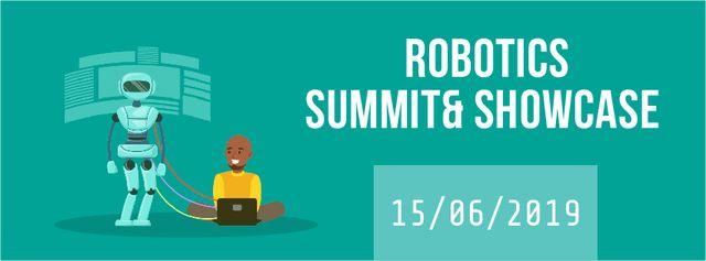Modèle de visuel Man programming robot - Facebook Video cover