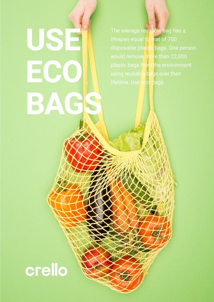 Fresh Vegetables in Net Bag | Poster Template — Crear un diseño