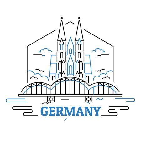 Germany famous travelling spots Animated Post Modelo de Design