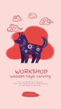 Toys Carving Workshop Dog and Pig Figures