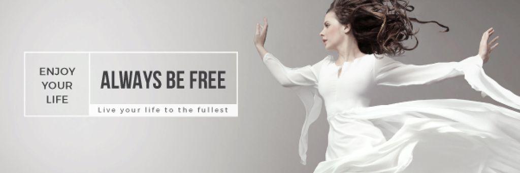 Inspiration Quote with Woman Dancer Jumping — Создать дизайн