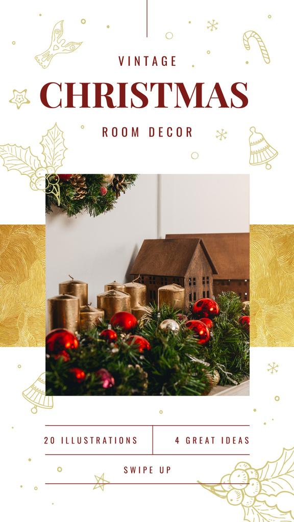 Christmas Decorations Ideas Baubles and Candles   Stories Template — Créer un visuel