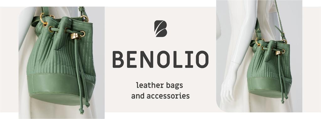 Accessories Sale woman with Green Bag — Создать дизайн