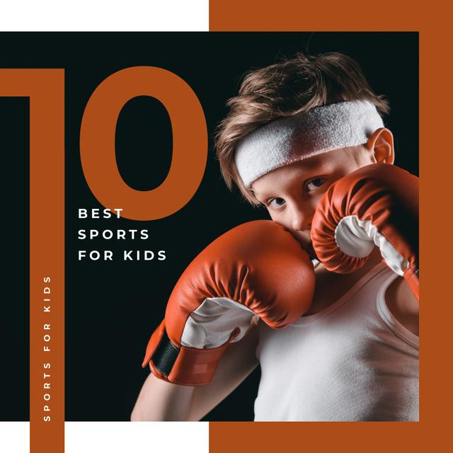 Modèle de visuel Kid in boxing gloves - Instagram