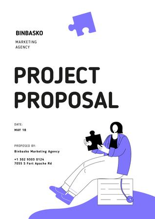 Plantilla de diseño de Marketing agency services offer Proposal