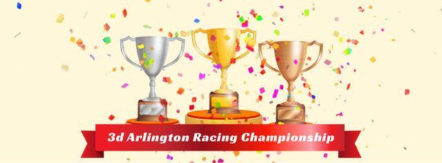 Modèle de visuel Confetti falling on trophy cups - Facebook Video cover