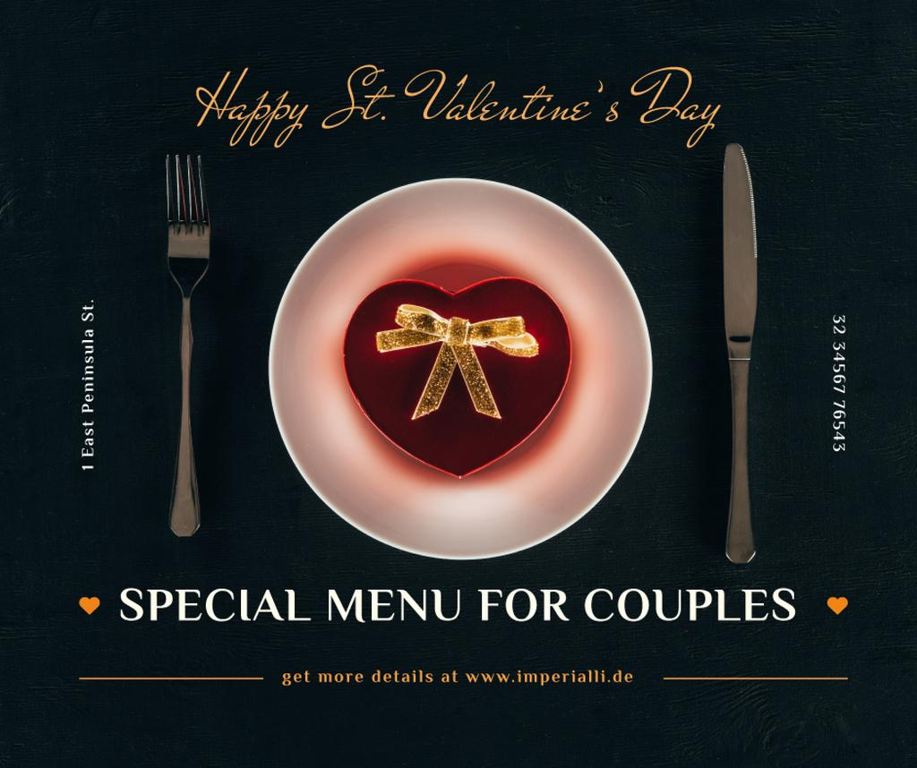 Valentine's Day Dinner with Heart Box — Crear un diseño