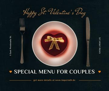 Valentine's Day Restaurant Offer Heart Box on Plate