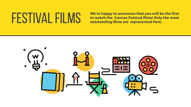 Plantilla de diseño de Movie festival poster Full HD video