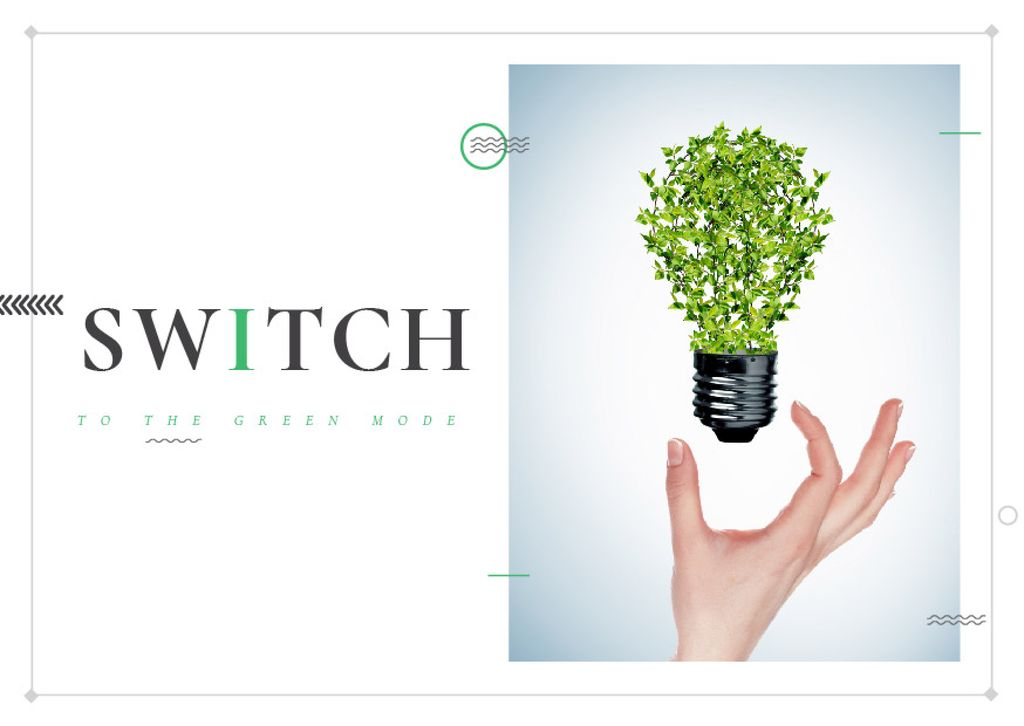 Switch to the green mode poster — Crear un diseño
