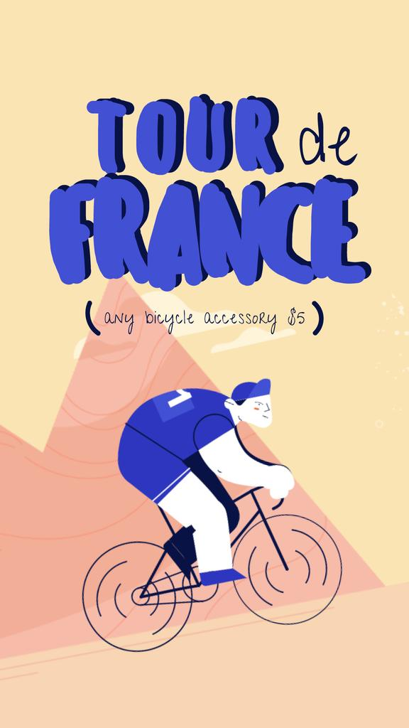 Tour De France Offer Cyclists Riding in Mountains | Vertical Video Template — Crear un diseño