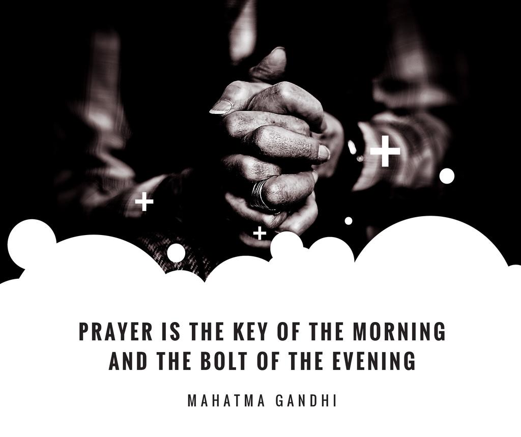 Hands Clasped in Religious Prayer Facebook Modelo de Design