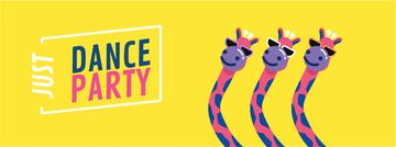 Dancing Pink Giraffes at Party | Facebook Video Cover Template
