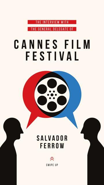 Szablon projektu Cannes Festival Ad People talking about Cinema Instagram Story