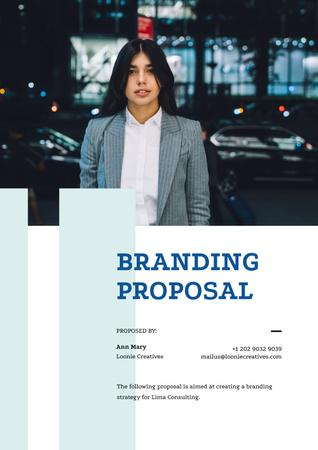 Plantilla de diseño de Branding Strategy overview Proposal