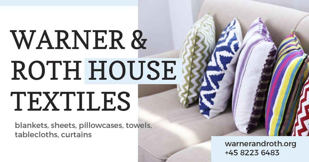Soft multi-colored pillows on the sofa — Создать дизайн