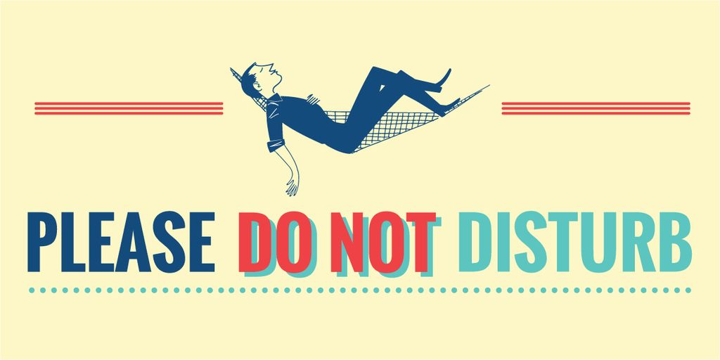 Please do not disturb banner — Create a Design