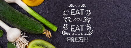 Template di design Local Food Vegetables and Fruits Facebook cover
