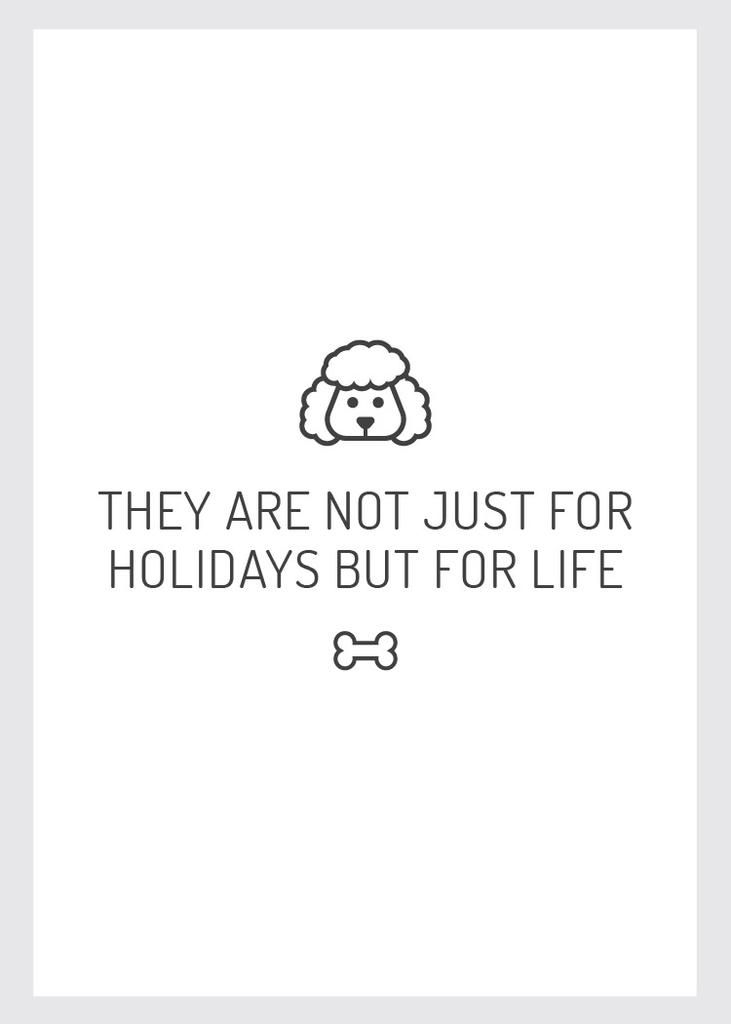Plantilla de diseño de Pets Quote with Dog icon Flayer