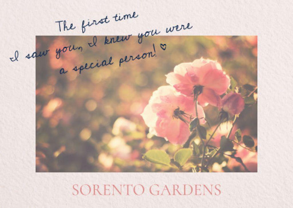 Sorento gardens advertisement with Tender Flowers — Modelo de projeto