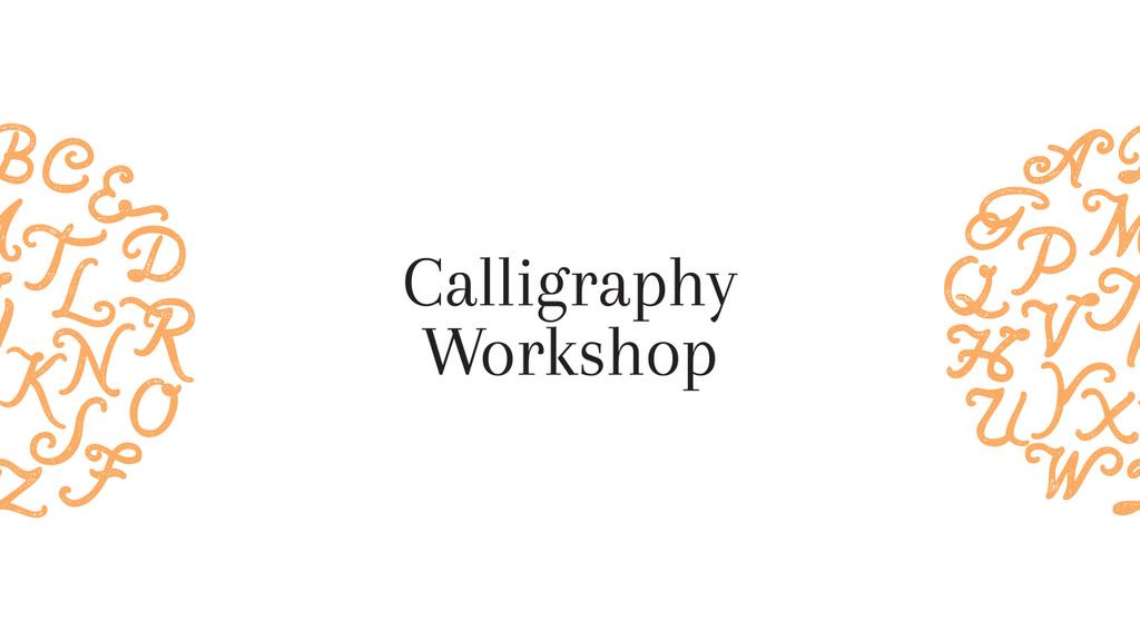 Calligraphy workshop poster — Создать дизайн