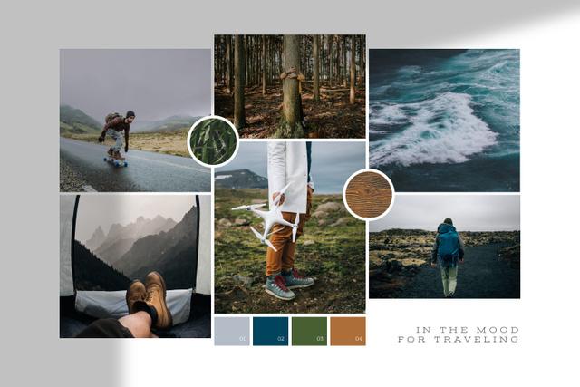 Trip to Nordic countries Mood Board – шаблон для дизайну