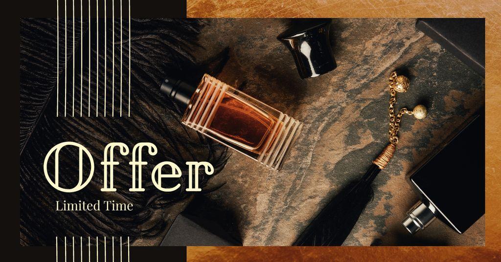 Glass bottles with perfume — Crea un design